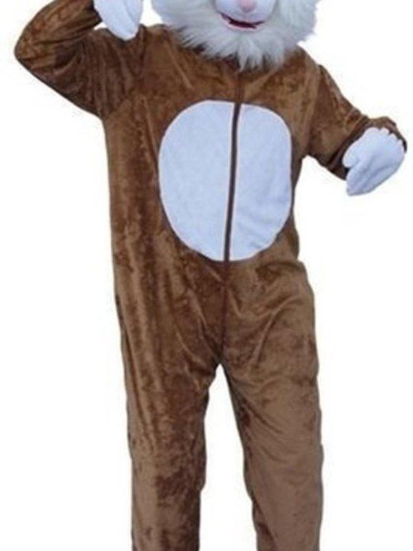 konijn kostuum bruin