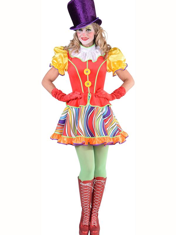 regenboog jurkje clown